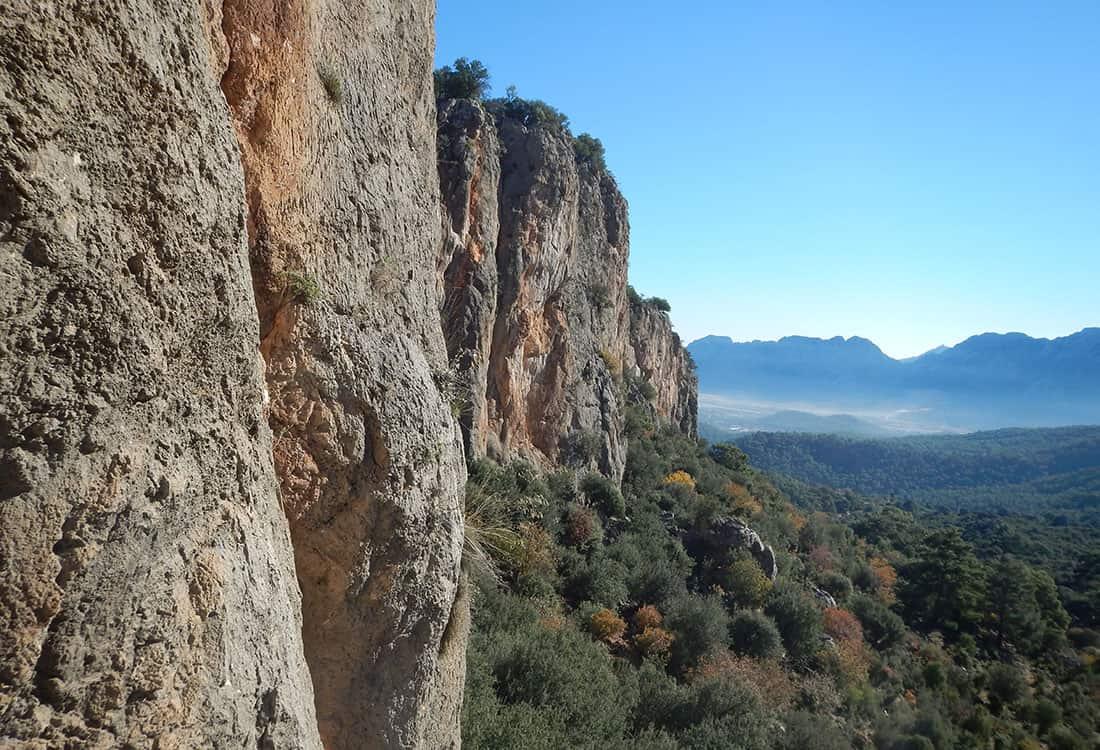 Amazing rock climbing sectors